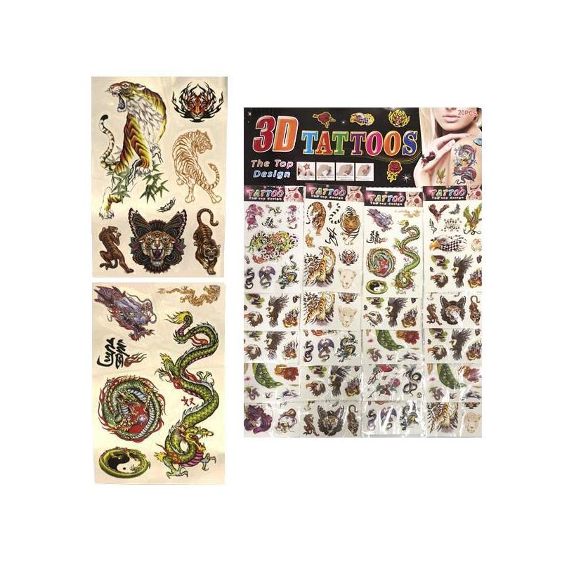 """Наклейка-перебивка """"Тату: Животные"""", 20 листочков CN780 купить в магазине """"Пустун"""""""