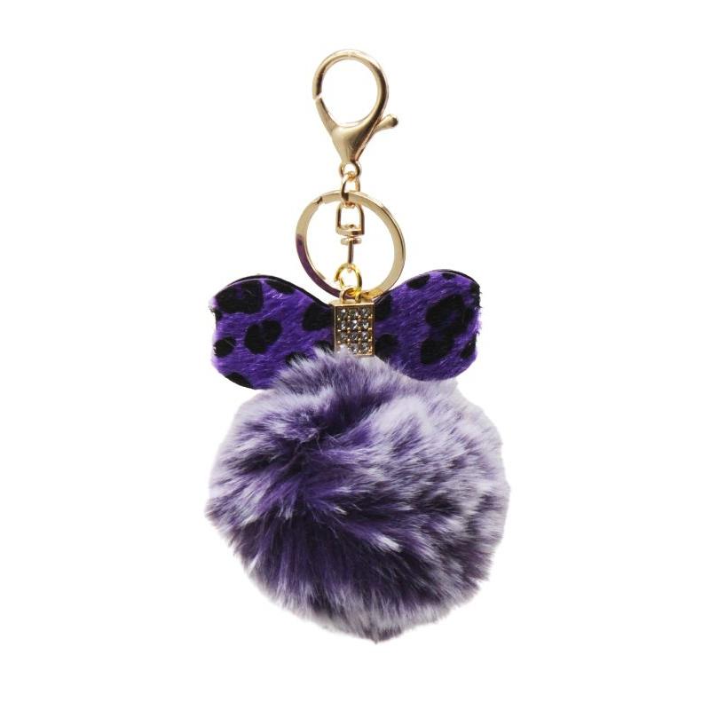 """Брелок-пушистик """"Бантик"""", фиолетовый BR1525 купить в магазине """"Пустун"""""""