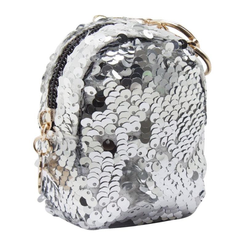 """Кошелёк-монетница """"Рюкзачок"""", серебристый KG180 купить в магазине """"Пустун"""""""