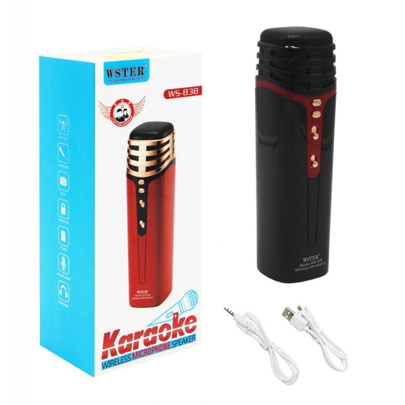 """Беспроводной микрофон-караоке, черный EL-1304 купить в магазине """"Пустун"""""""