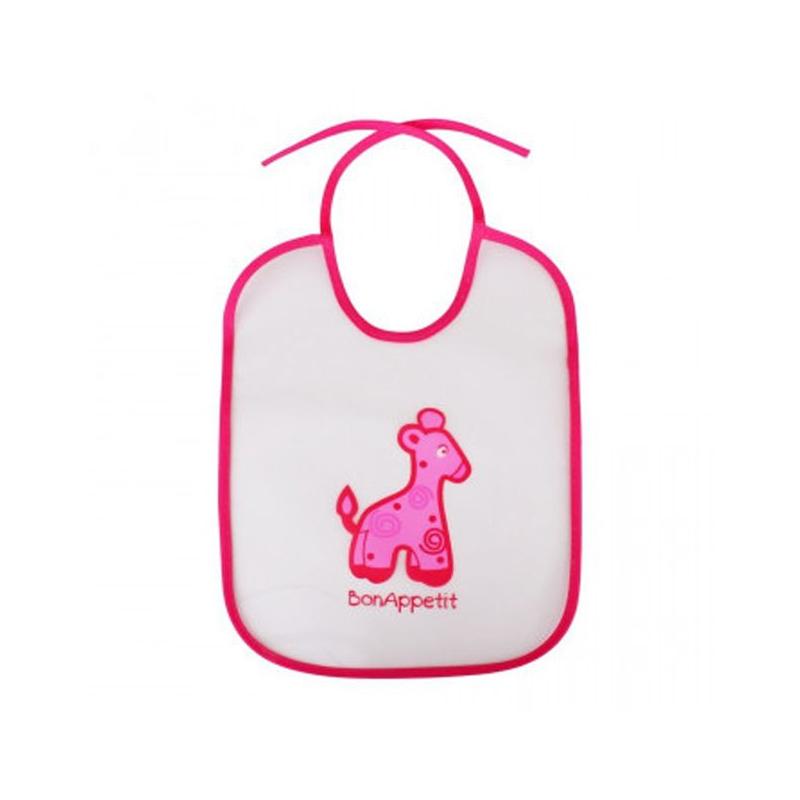 "Слюнявчик ""Bon Appetit"", розовый 1041 купить в магазине ""Пустун"""
