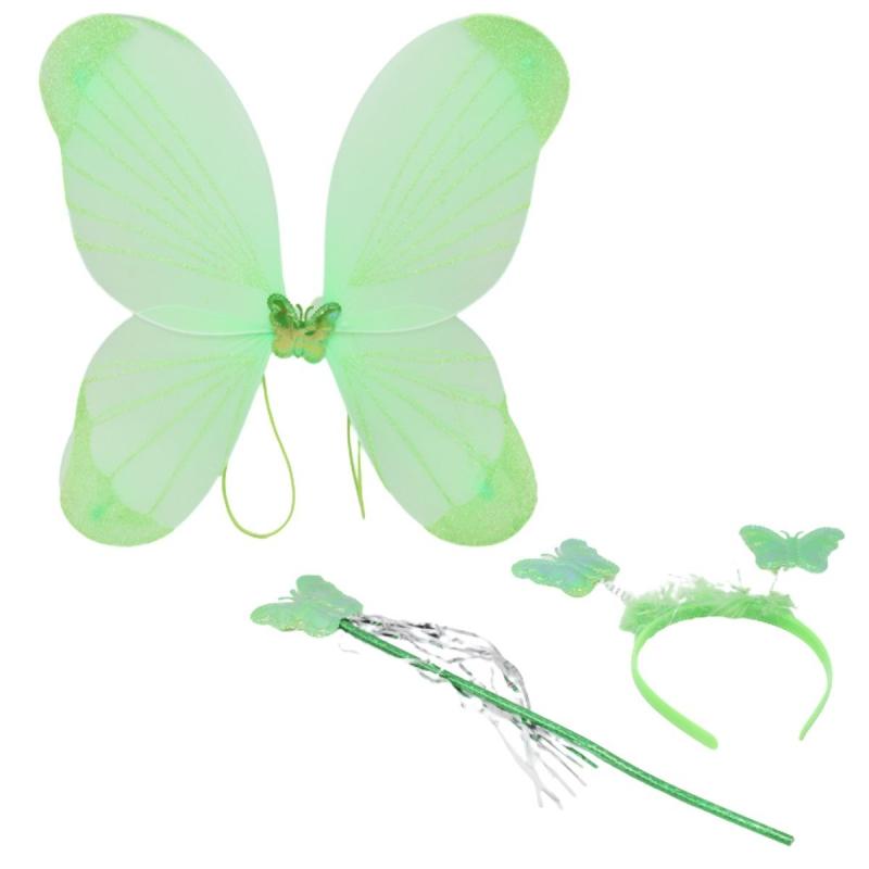 """Карнавальный костюм """"Бабочка"""" (салатовый) C31252 купить в магазине """"Пустун"""""""