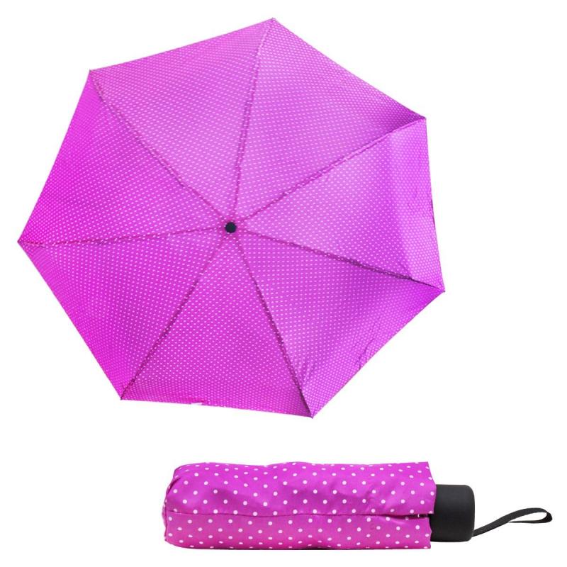 """Зонтик складной """"Горошек"""", розовый 000270/0 купить в магазине """"Пустун"""""""