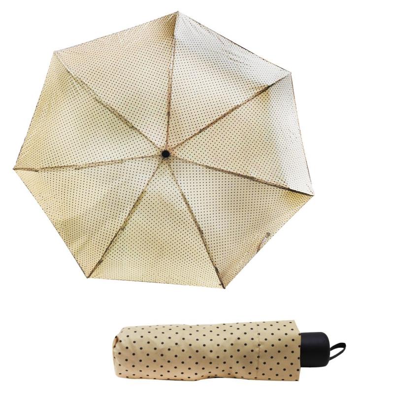 """Зонтик складной """"Горошек"""", бежевый 000270/0 купить в магазине """"Пустун"""""""