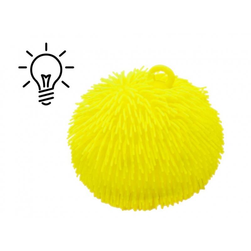 """Гигантский волосатый шар, 20 см, желтый SV114 купить в магазине """"Пустун"""""""