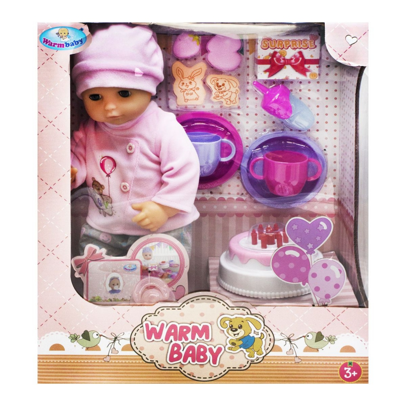 """Пупс """"Warm Baby. День рождения"""", в костюмчике WZJ033A-1/2 купить в магазине """"Пустун"""""""