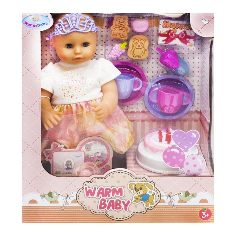 """Пупс """"Warm Baby. День рождения"""", в платье WZJ033A-1/2 купить в магазине """"Пустун"""""""