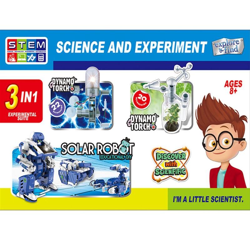 """Исследовательская лаборатория """"Science and Experiment"""" 3 в 1 1057 купить в магазине """"Пустун"""""""