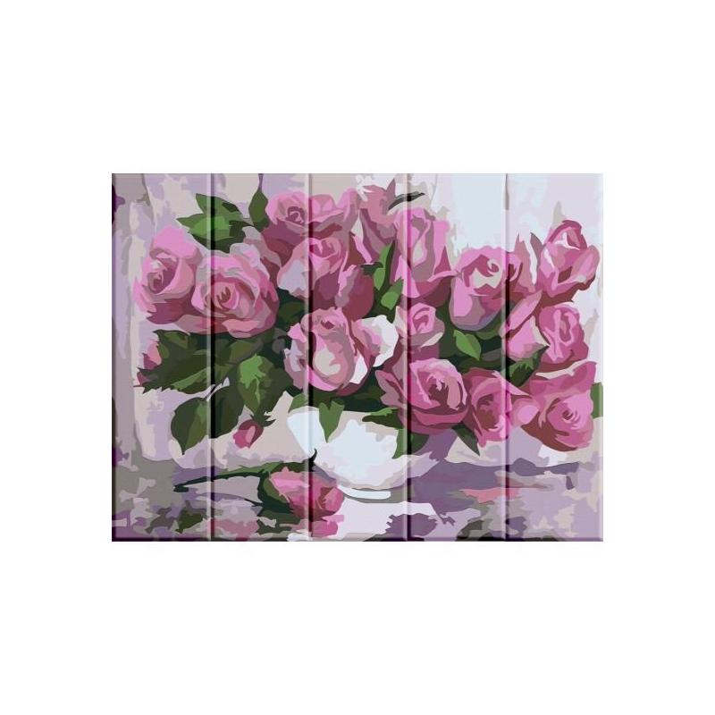 """Картина по номерам на дереве """"Розы"""" ASW001 купить в магазине """"Пустун"""""""