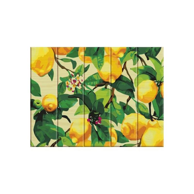 """Картина по номерам на дереве """"Лимонное дерево"""" ASW011 купить в магазине """"Пустун"""""""