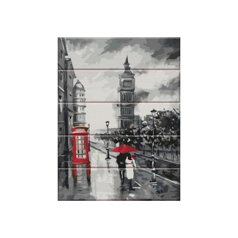 """Картина по номерам на дереве """"Старый Лондон"""" ASW031 купить в магазине """"Пустун"""""""