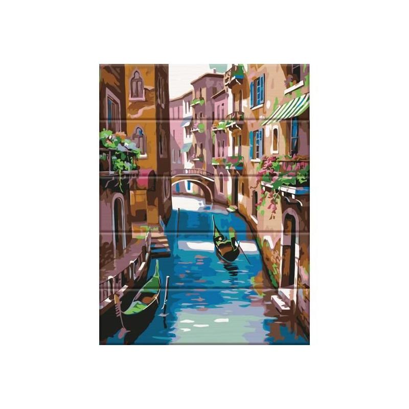 """Картина по номерам на дереве """"Венеция"""" ASW040 купить в магазине """"Пустун"""""""