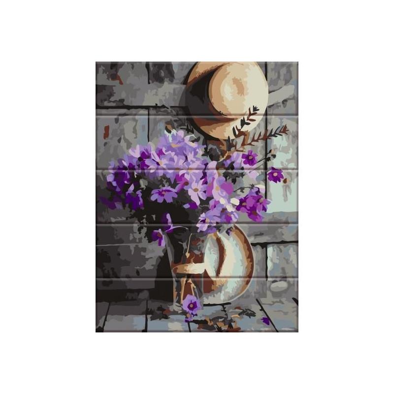 """Картина по номерам на дереве """"Сельский букет"""" ASW049 купить в магазине """"Пустун"""""""