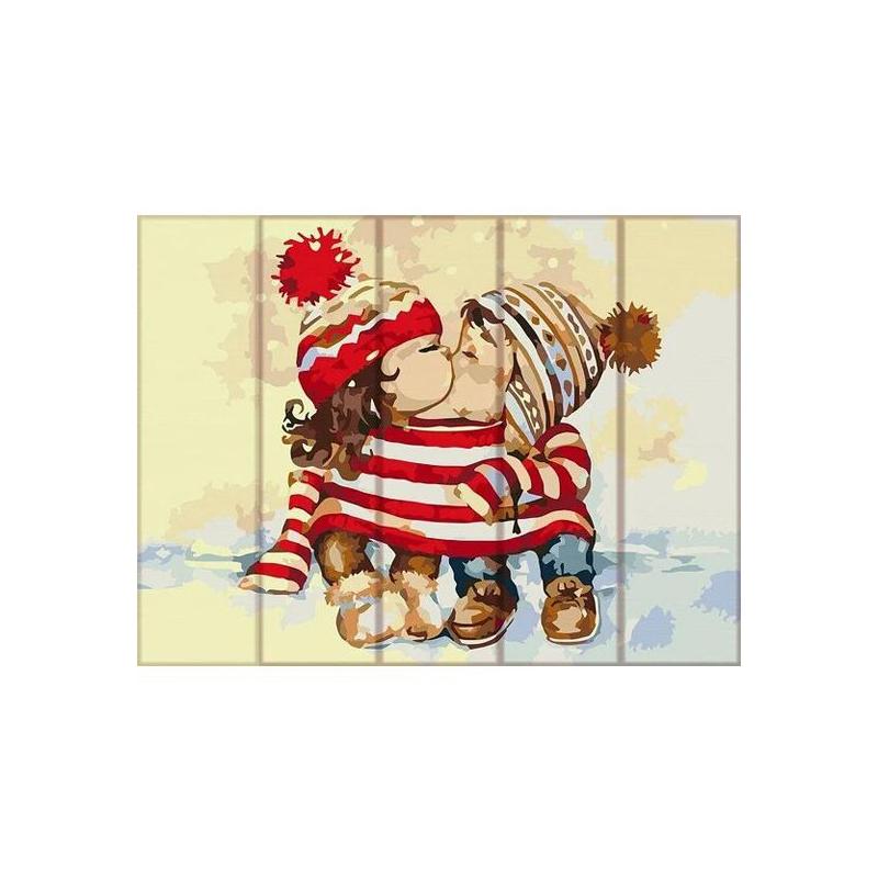 """Картина по номерам на дереве """"Вместе теплее"""" ASW098 купить в магазине """"Пустун"""""""