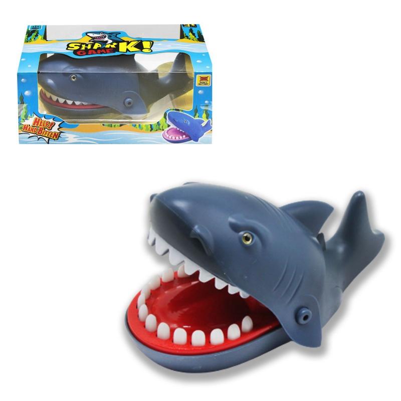 """Игра """"Акула-кусачка"""", серая 9848 купить в магазине """"Пустун"""""""