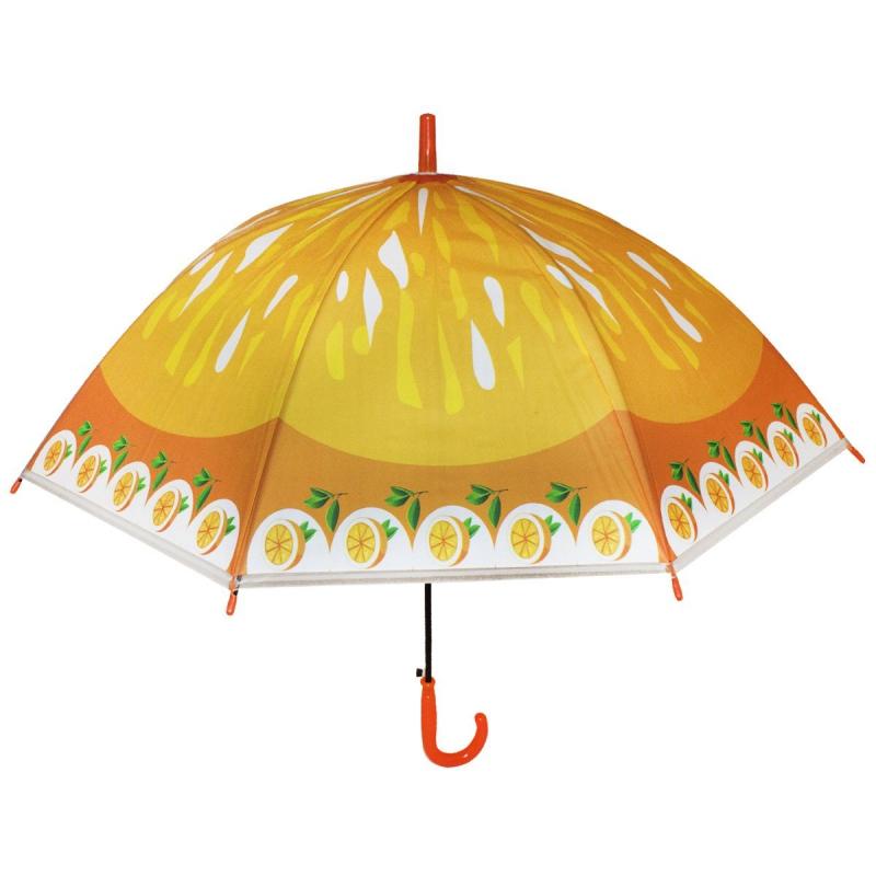 """Зонтик детский """"Фрукты"""", оранжевый BT-CU-0038 купить в магазине """"Пустун"""""""