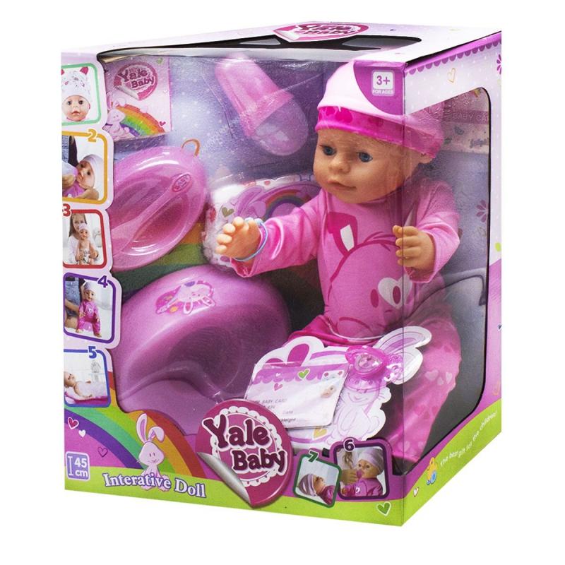 "Пупс ""Yale baby"", в розовом BL037C/N купить в магазине ""Пустун"""