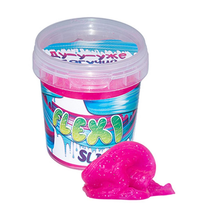 """Слайм """"Flexi Slime"""" 125 г, розовый 71833 купить в магазине """"Пустун"""""""