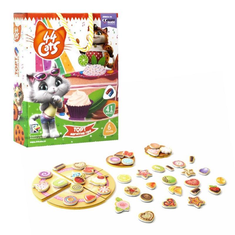 """Магнитная игра """"44 кота. Торт"""" (укр) VT3004-03 купить в магазине """"Пустун"""""""
