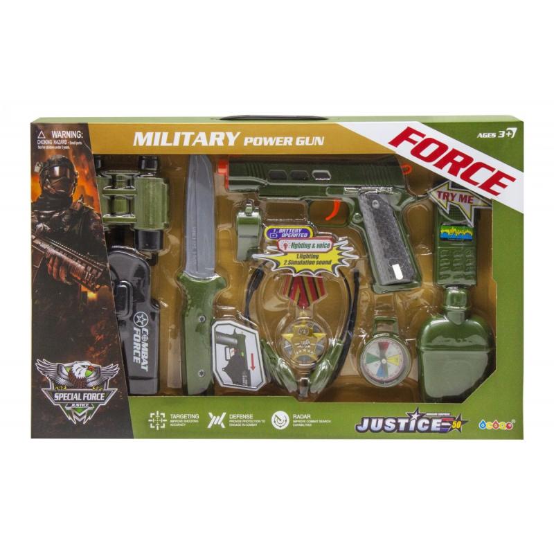 """Военный набор """"Military Power Gun"""" 34360 купить в магазине """"Пустун"""""""