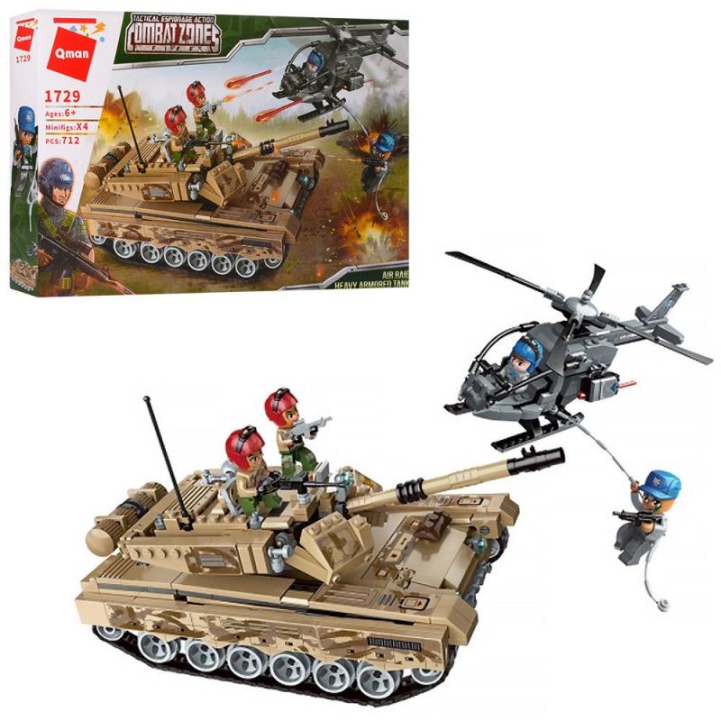 """Пластиковый конструктор """"Combat zones. Air raid heavy armored tank"""", 712 дет 1729 купить в магазине """"Пустун"""""""