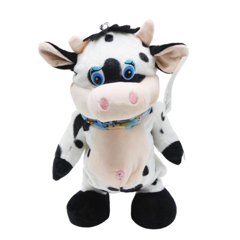"""Мягкая интерактивная игрушка Бычок с голубым шарфиком купить в магазине """"Пустун"""""""