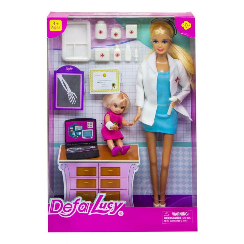 """Кукла """"Defa. Доктор, в голубом 8348 купить в магазине """"Пустун"""""""