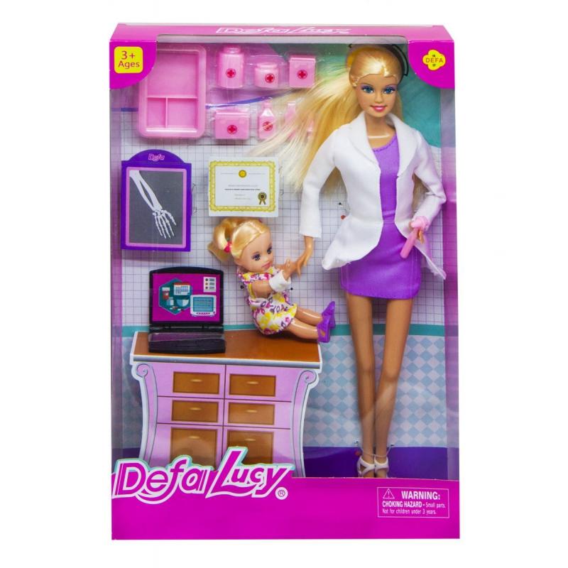 """Кукла """"Defa. Доктор, в фиолетовом 8348 купить в магазине """"Пустун"""""""