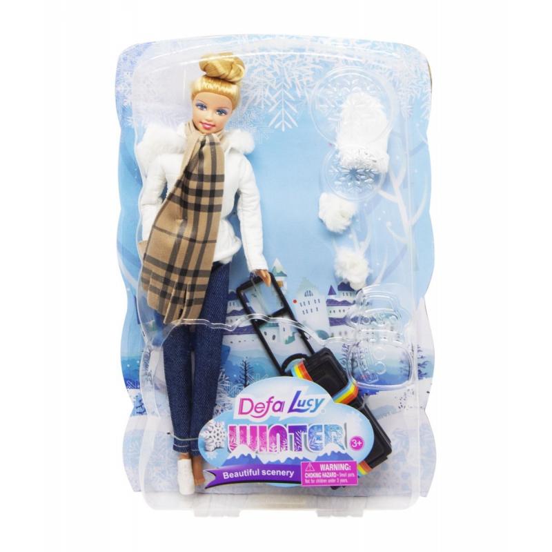 """Кукла """"Defa. Путешественница"""", в белом 8424 купить в магазине """"Пустун"""""""