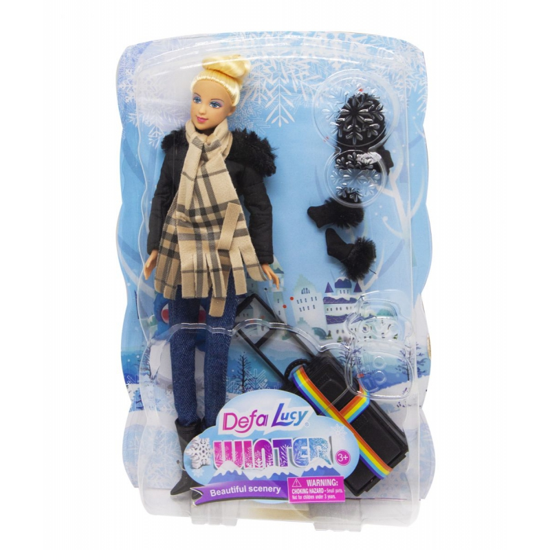 """Кукла """"Defa. Путешественница"""", в черном 8424 купить в магазине """"Пустун"""""""