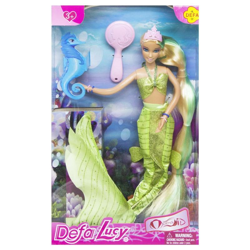 """Кукла """"Defa Lucy: Русалочка"""", салатовый 8225 купить в магазине """"Пустун"""""""