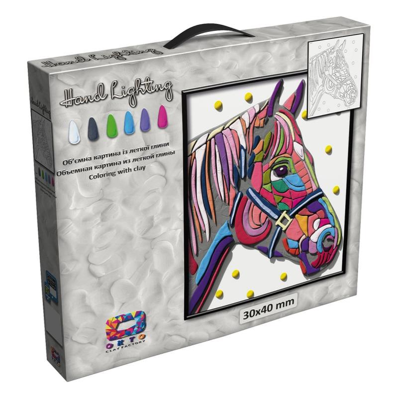 """Картина из глины """"Moon Light Clay. Лошадь"""" 70070 купить в магазине """"Пустун"""""""