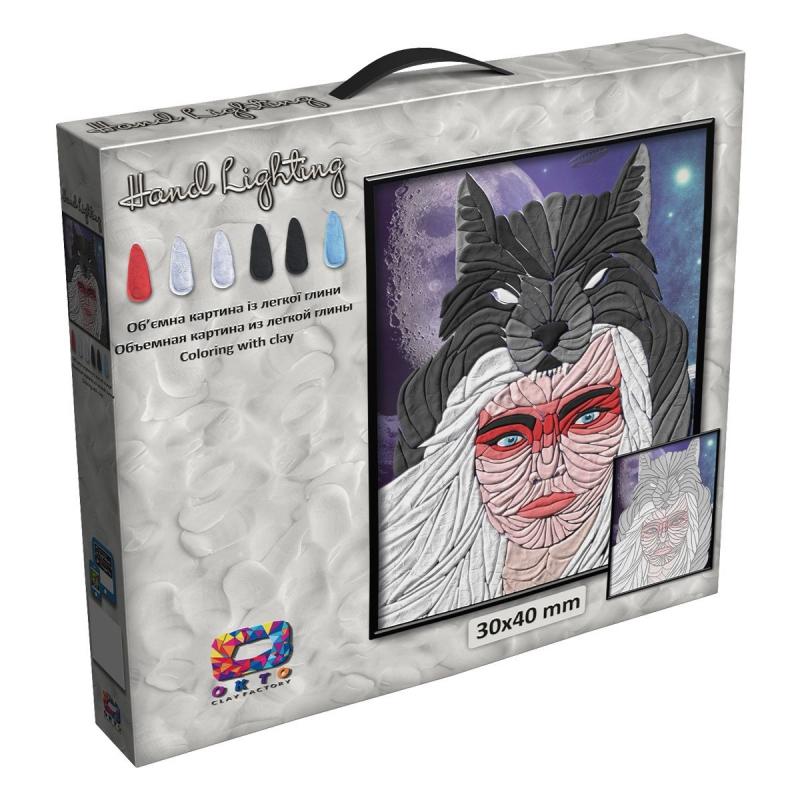"""Картина из глины """"Moon Light Clay. Волчица"""" 70077 купить в магазине """"Пустун"""""""