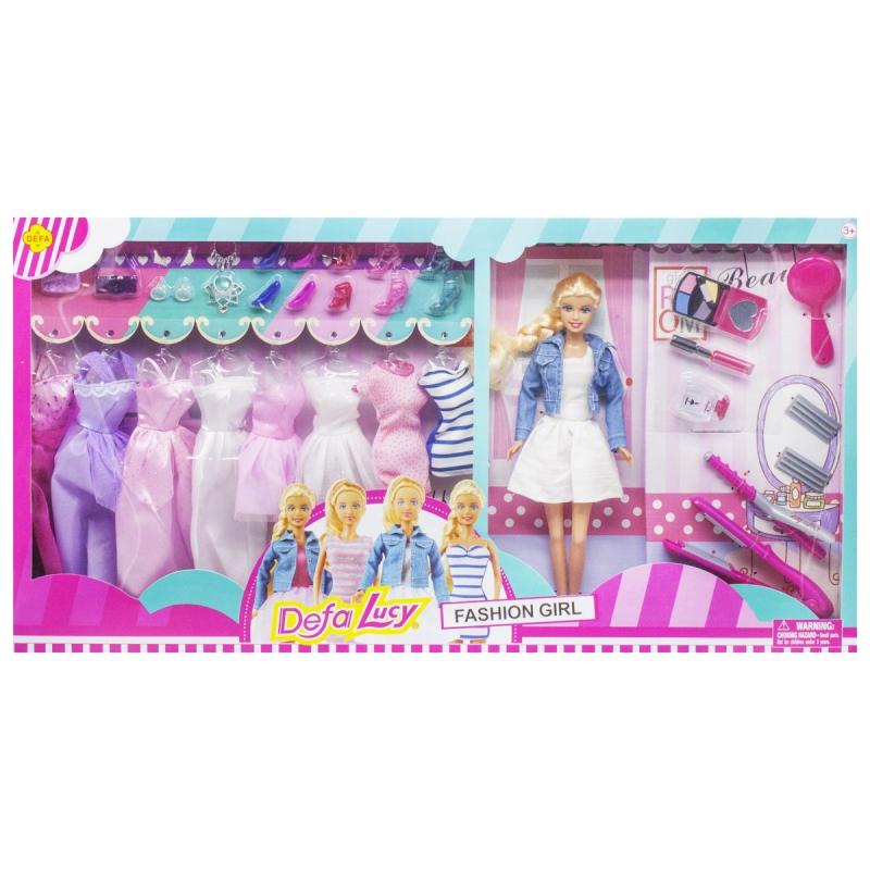 """Кукла Defa Lucy: Fashion Girl в белом платье купить в магазине """"Пустун"""""""