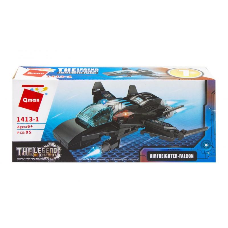"""Пластиковый конструктор """"Транспорт. Airfreigter-Falcon"""", 95 дет 1413 купить в магазине """"Пустун"""""""