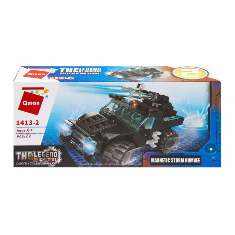 """Пластиковый конструктор """"Транспорт. Magnetic Storm Humvee"""", 77 дет 1413 купить в магазине """"Пустун"""""""