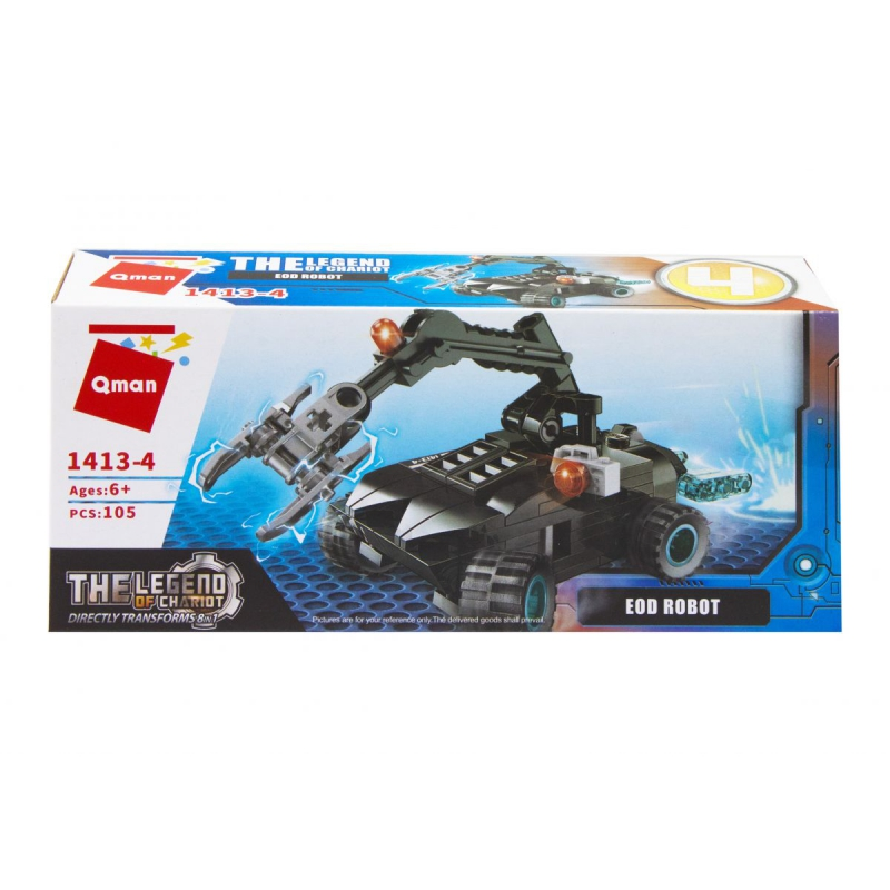 """Пластиковый конструктор """"Транспорт. Eod Robot"""", 105 дет 1413 купить в магазине """"Пустун"""""""