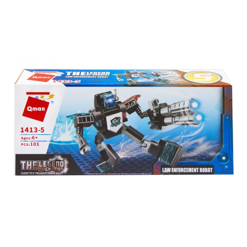 """Пластиковый конструктор """"Транспорт. Law Enforcemen robot"""", 101 дет 1413 купить в магазине """"Пустун"""""""