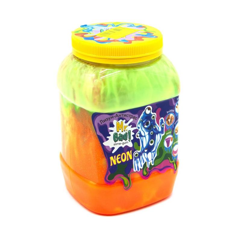 """Лизун-антистресс """"Mr. Boo: Neon"""", 1000 г (оранжевый+) 80051 купить в магазине """"Пустун"""""""