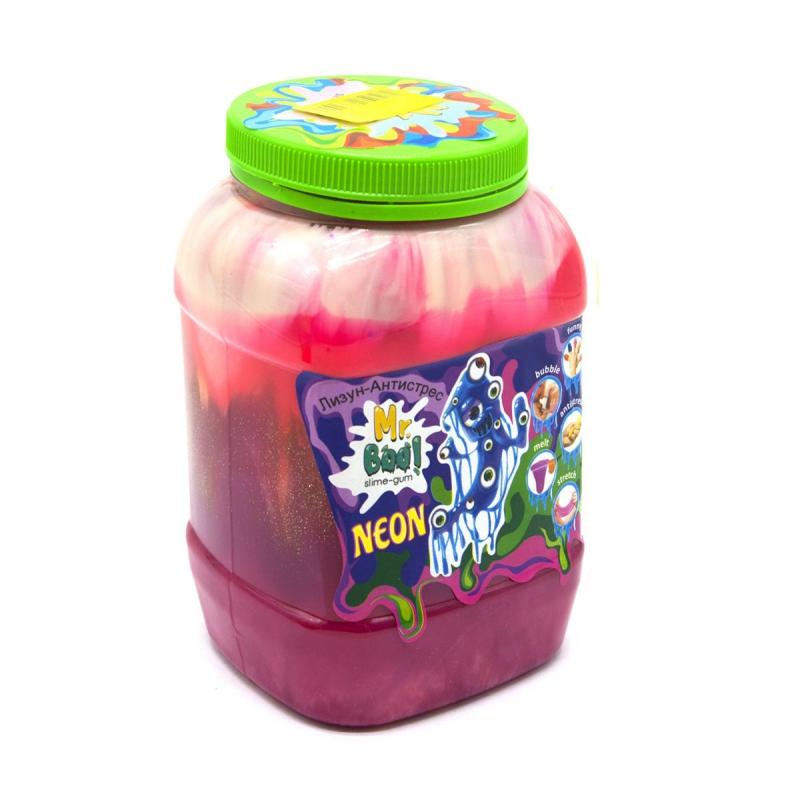 """Лизун-антистресс """"Mr. Boo: Neon"""", 1000 г (розовый+) 80051 купить в магазине """"Пустун"""""""