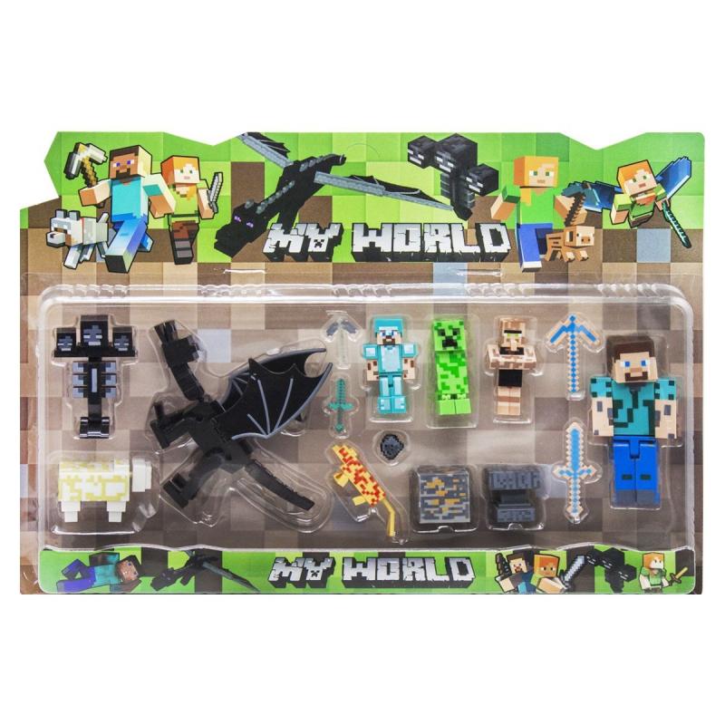 """Набор фигурок """"Minecraft. Дракон"""", вид 1 JL18332-2 купить в магазине """"Пустун"""""""