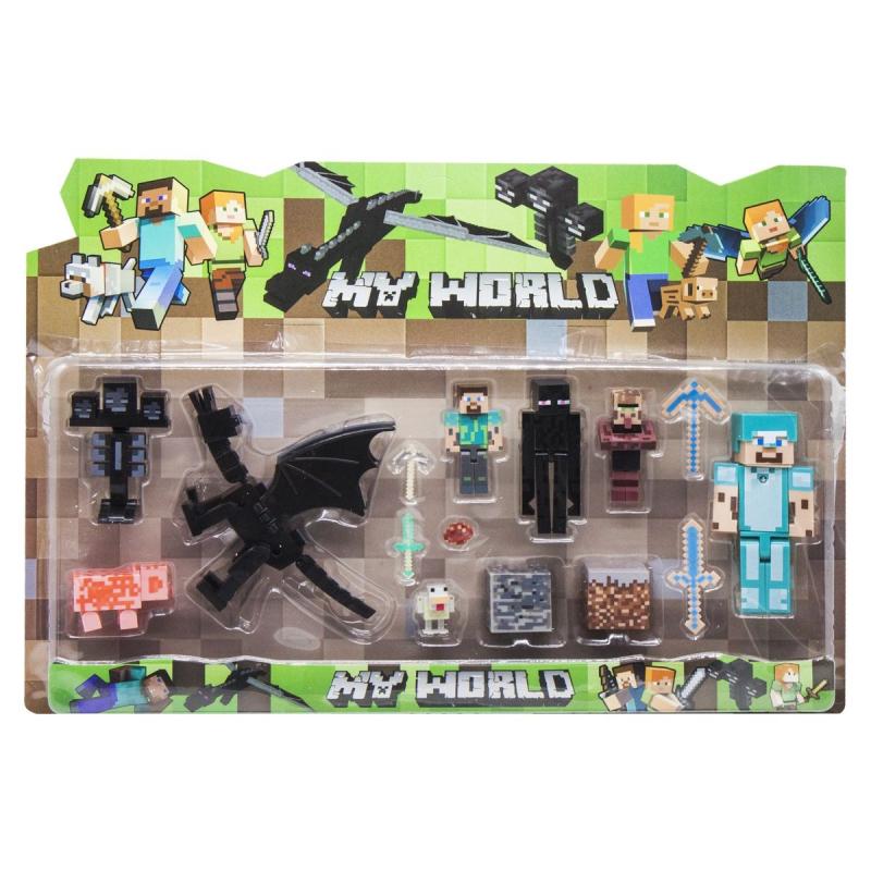 """Набор фигурок """"Minecraft. Дракон"""", вид 2 JL18332-2 купить в магазине """"Пустун"""""""