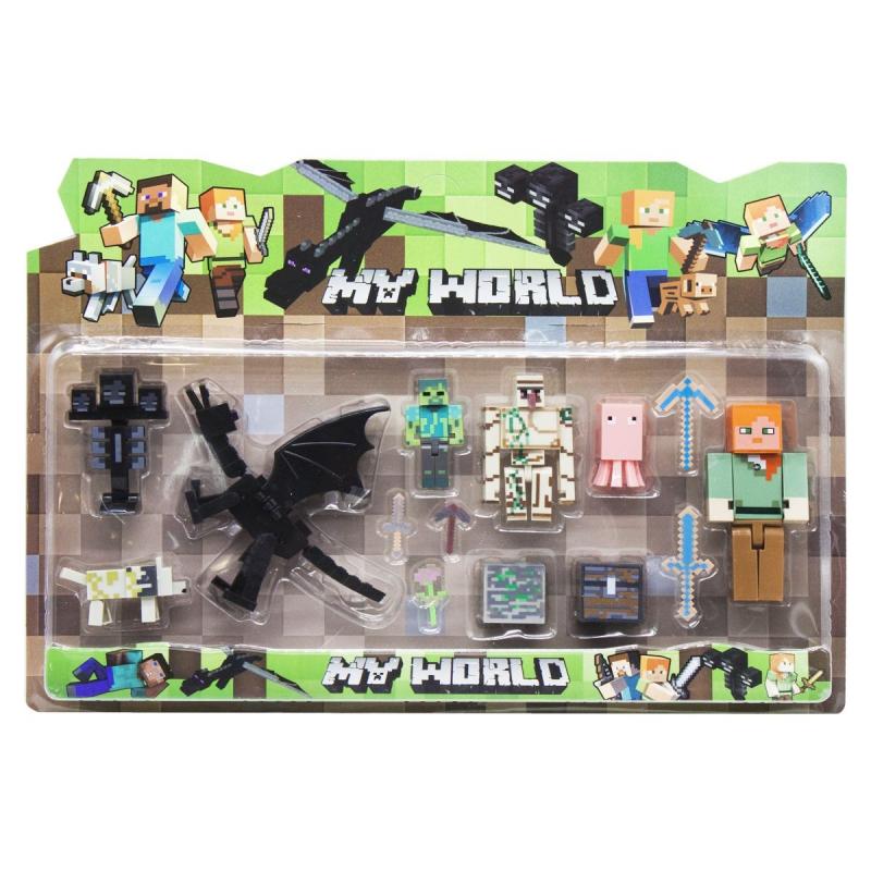 """Набор фигурок """"Minecraft. Дракон"""", вид 3 JL18332-2 купить в магазине """"Пустун"""""""
