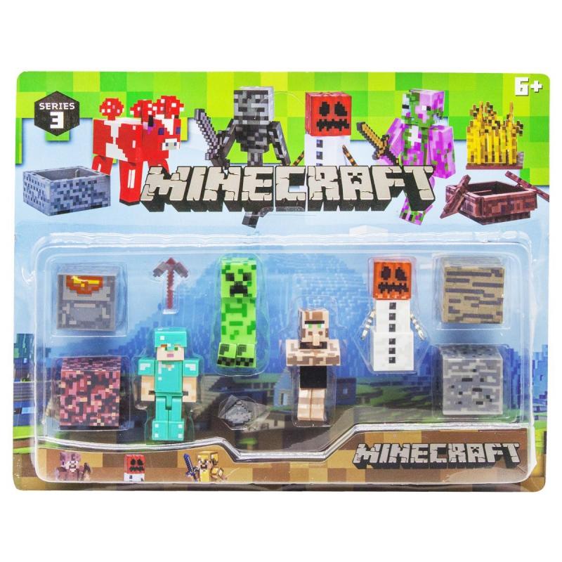 """Набор фигурок """"Minecraft"""", вид 2 P19278 купить в магазине """"Пустун"""""""