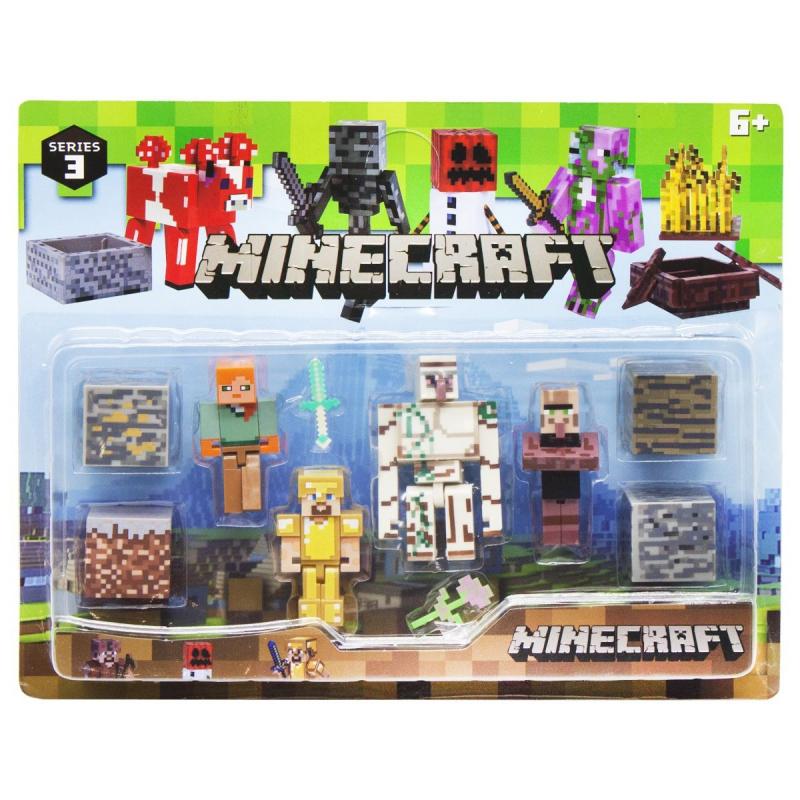 """Набор фигурок """"Minecraft"""", вид 3 P19278 купить в магазине """"Пустун"""""""
