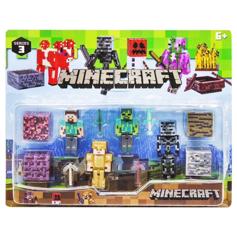 """Набор фигурок """"Minecraft"""", вид 4 P19278 купить в магазине """"Пустун"""""""