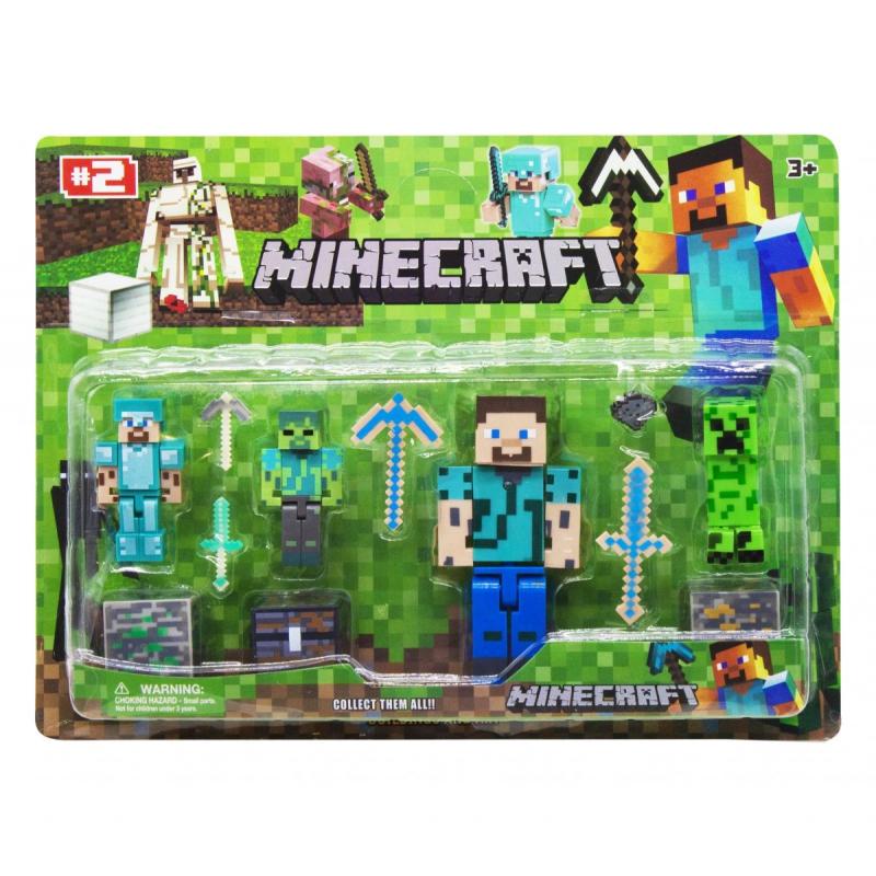 """Набор фигурок """"Minecraft"""", вид 1 JL15911-2 купить в магазине """"Пустун"""""""