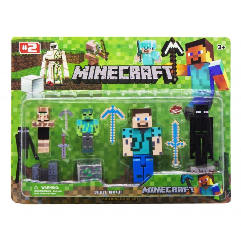 """Набор фигурок """"Minecraft"""", вид 2 JL15911-2 купить в магазине """"Пустун"""""""