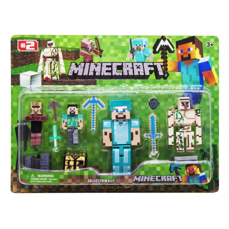 """Набор фигурок """"Minecraft"""", вид 3 JL15911-2 купить в магазине """"Пустун"""""""