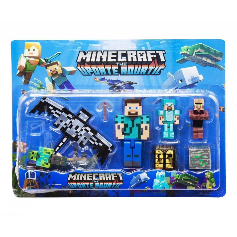 """Набор фигурок """"Minecraft"""", вид 2 JL19006-2 купить в магазине """"Пустун"""""""